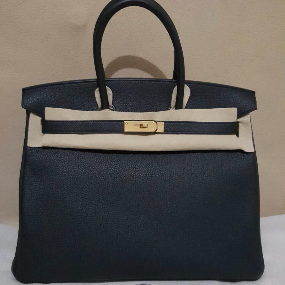 734ca3da76eb Hermès Birkin 35 Noir (Black) Togo Gold Hardware GHW C Stamp 2018  birkin35