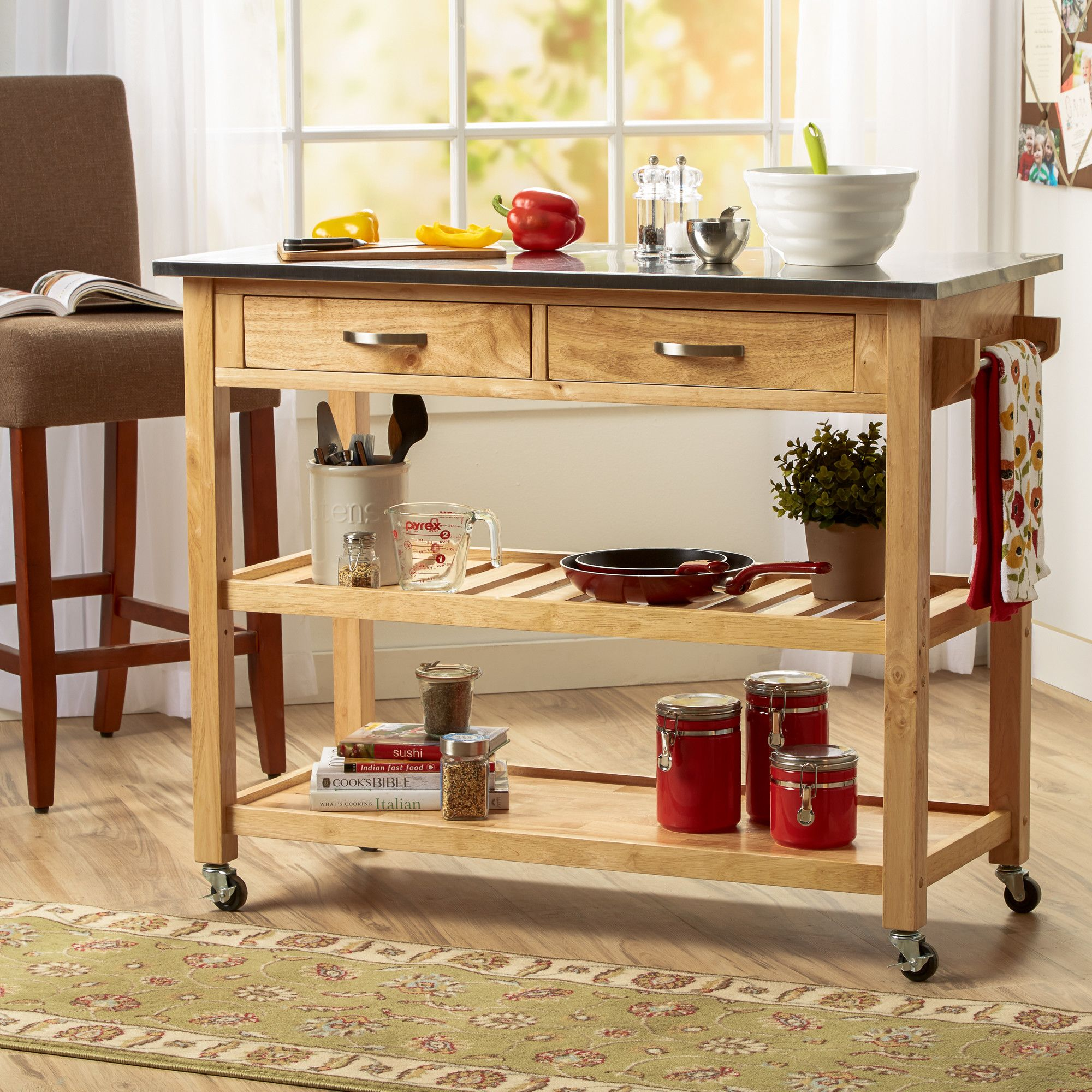 Three Posts Rickards Kitchen Island & Reviews | Wayfair