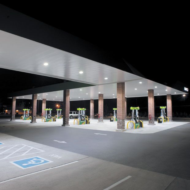 Petrol station lighting for forecourt canopies. 227 Series™ Flexible Recessed LED Light & Petrol station lighting for forecourt canopies. 227 Series ...