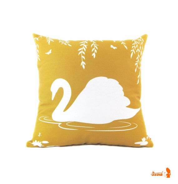 Swan Throw Pillow East Urban Home Color