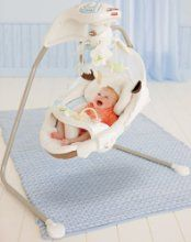 Whether it's playtime or nap time, the Fisher Price My Little Lamb Cradle 'n Swing provides a calming, soothing environment. Featuring side-to-side cradle motion and front-and-back swinging motion, the swing offers six speeds along with a sweet music mobile that's sure to delight and entertain. Your baby will be safe and snug surrounded by comfortable, plush fabrics and you'll appreciate how all of the fabric is machine washable.
