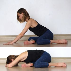 image result for deer pose back bend  yin yoga sequence