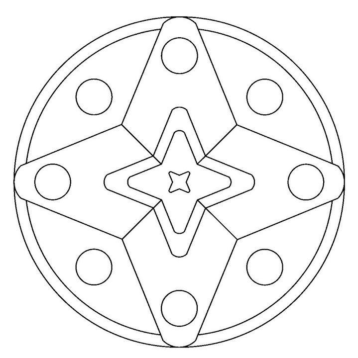 Coloriage De Mandala Etoile.Mandala Etoile Mandala Mandalas Coloriage Diy Mandala