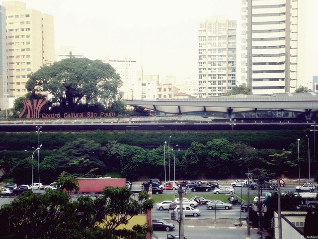 Vista do Centro Cultural São Paulo.