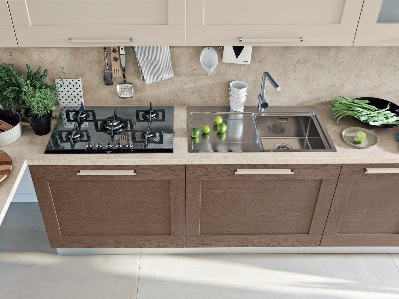 Linear wooden kitchen Gallery Collection by Cucine Lube | Home ...