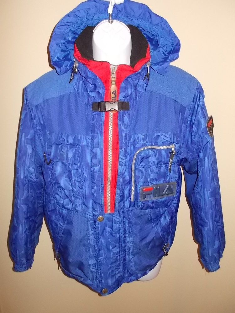 7306660dd6 Vintage Rare Fila Italian Italy ski team jacket coat blue w womens medium  USED in Sporting Goods