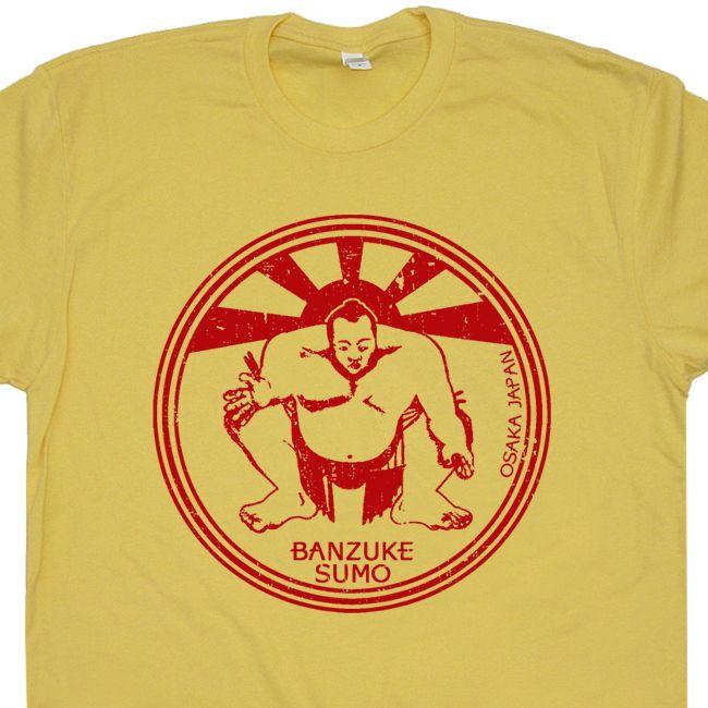Sumo Wrestling T Shirts Paper Street Soap Company Shirts Vintage Hulk Hogan Beige T Shirts Wrestling Shirts Wrestling Outfits