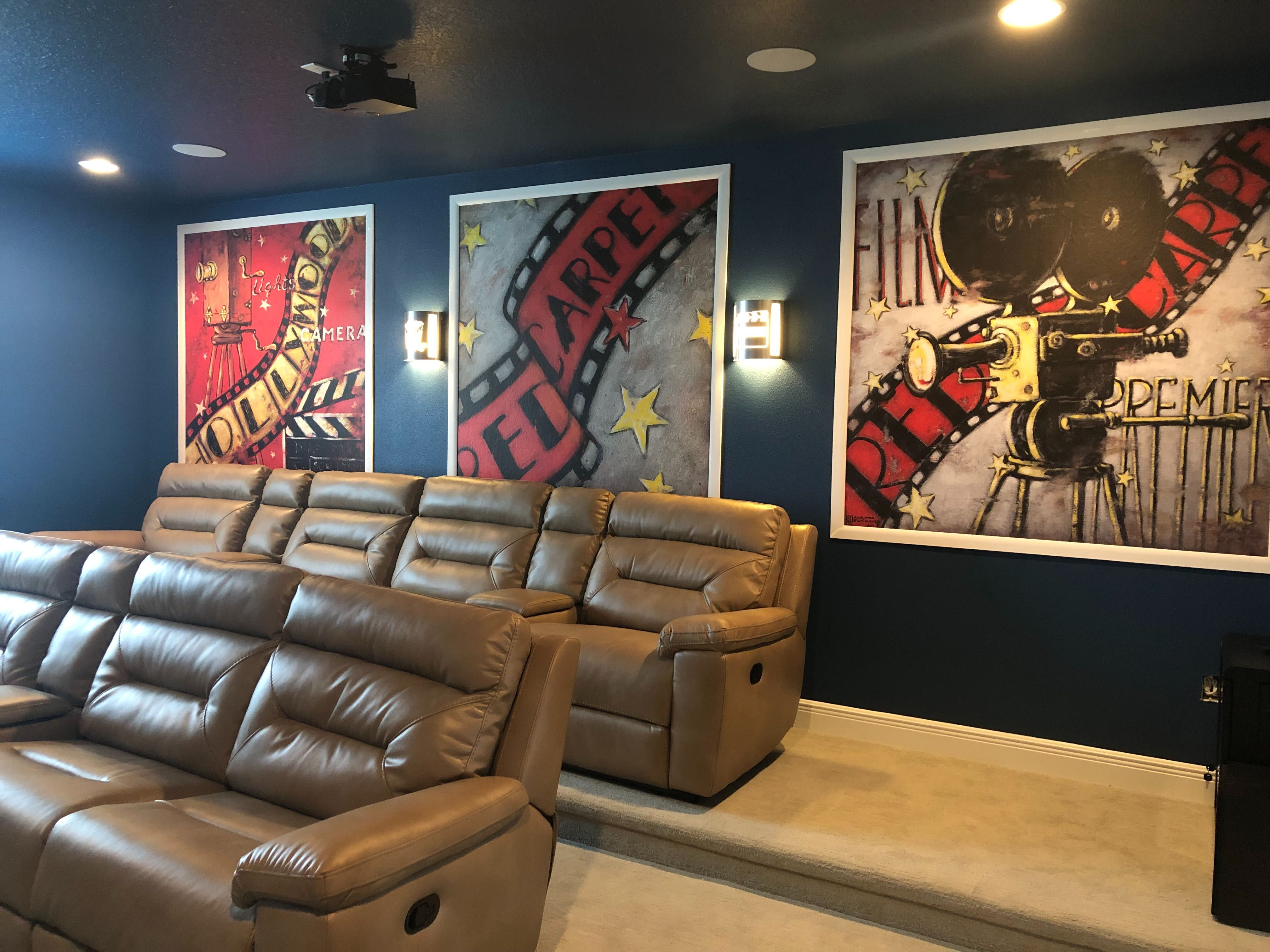 Hollywood Mural Wallpaper Home Theater Decor Home Theater