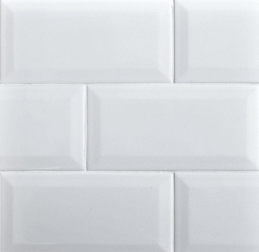 Amazon 4x8 white wide beveled subway ceramic tile backsplashes amazon 4x8 white wide beveled subway ceramic tile backsplashes walls kitchen shower dailygadgetfo Image collections