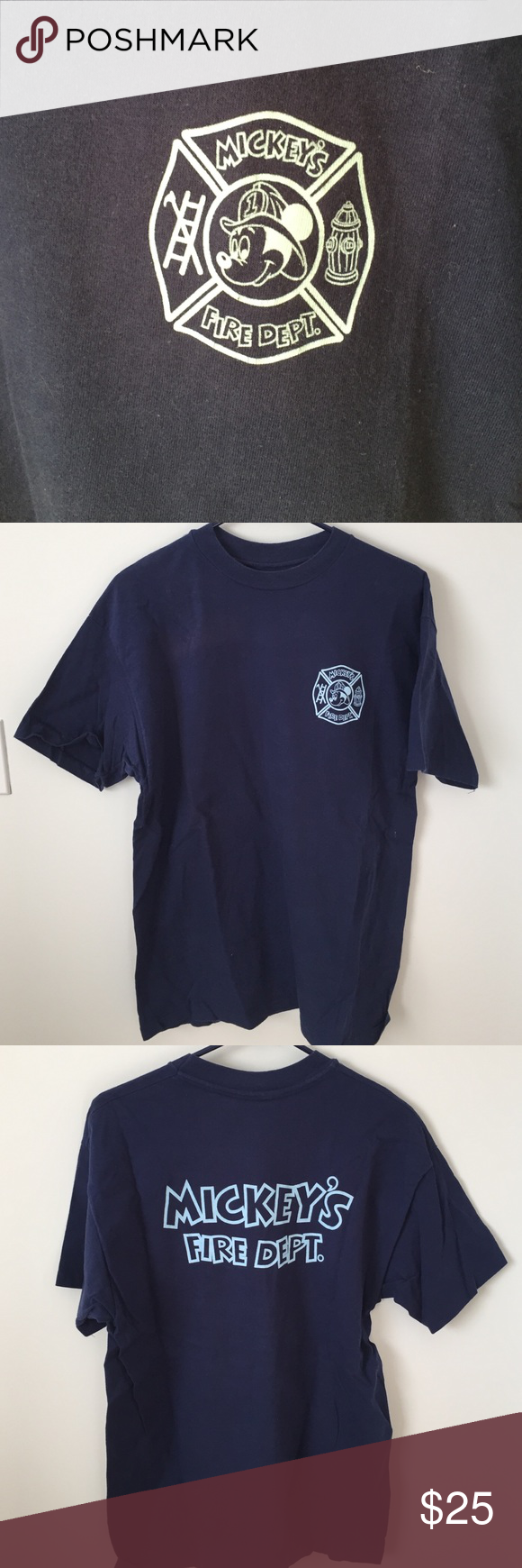 Disney Mickey Mouse Fire Tee From Wdw From Magic Kingdom In Fl Tag