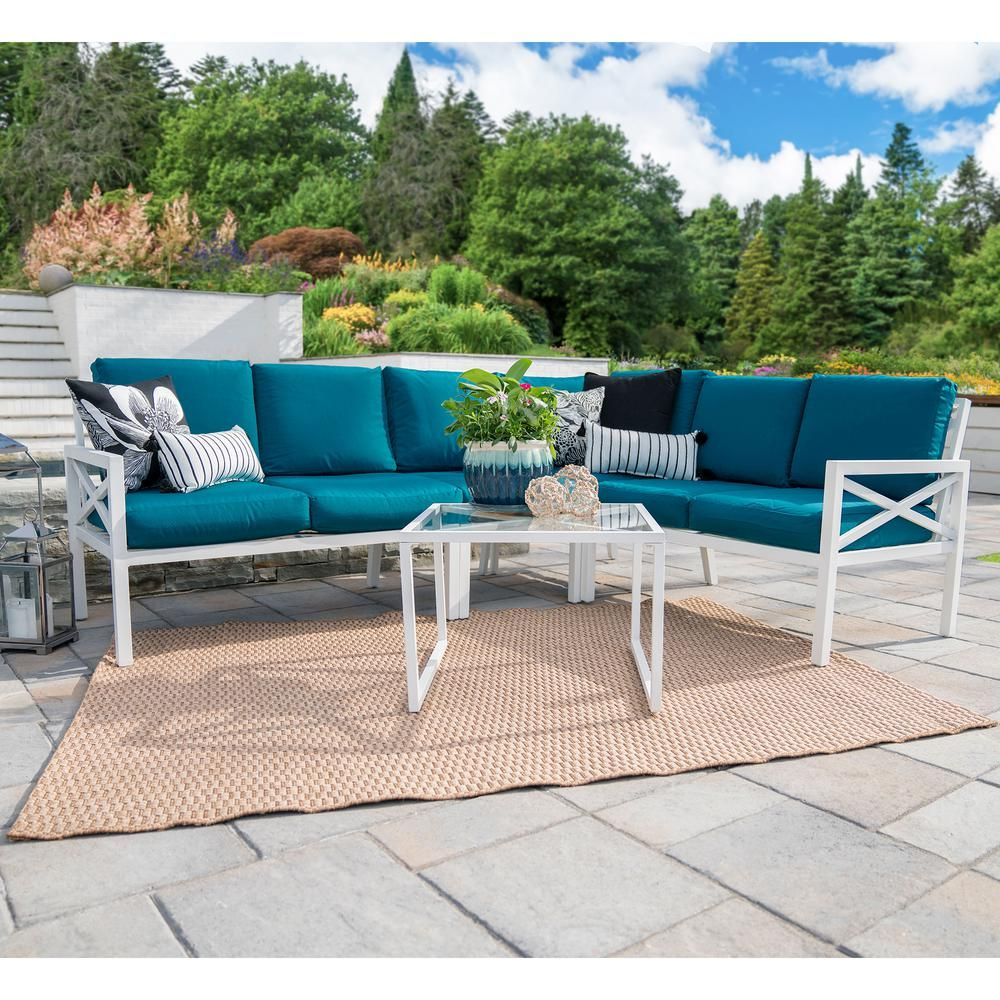 Garden Furniture Near Me For Sale: Leisure Made Blakely White 5-Piece Aluminum Outdoor