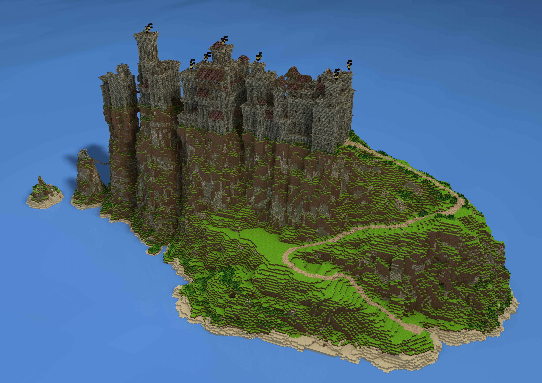minecraft mountain castle tutorial