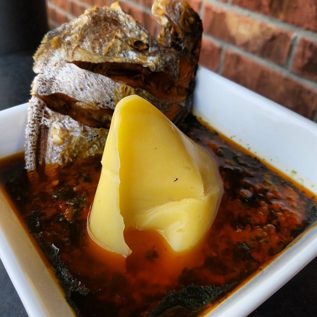 Eko Cuisine Eko With Ewedu And Stew Served With Drum Fish Notketofriendly