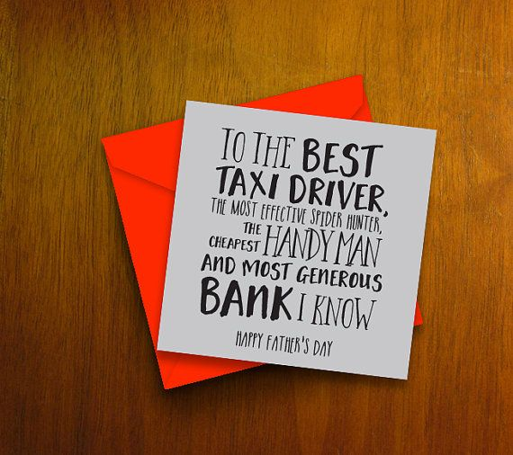 Funny fathers day card the best taxi driver handy many bank funny fathers day card the best taxi driver handy many bank greetings card for dad on fathers day m4hsunfo