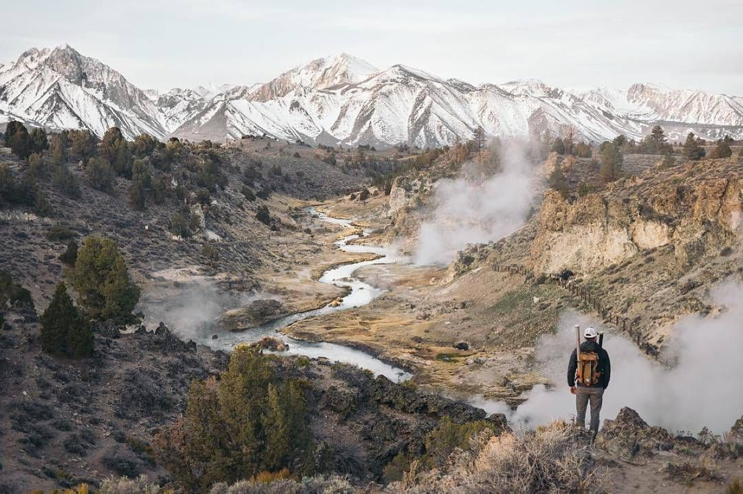 Watching the steam emerge from California's Hot Creek. Photo by @vanschyndel via #WeAreTheWild. by wildernesssociety