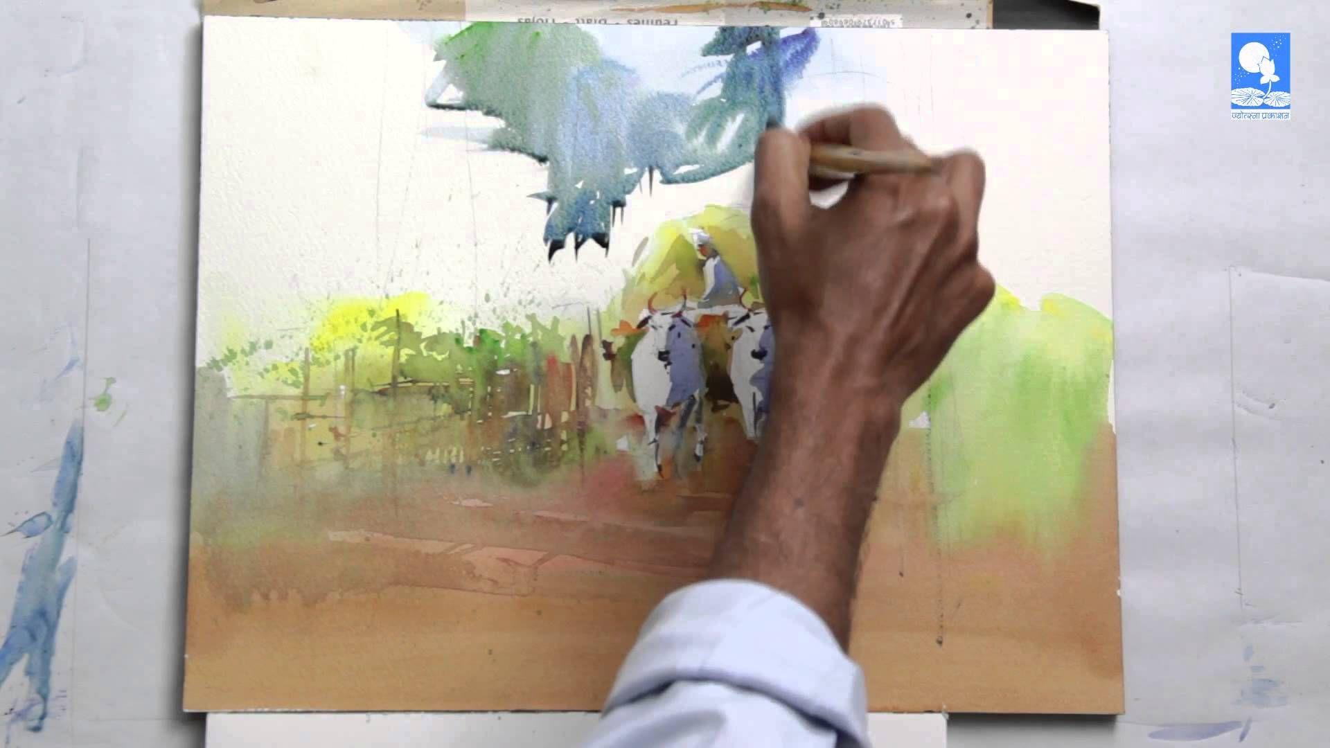 Bullock Cart By Milind Mulick Watercolor Video Watercolour