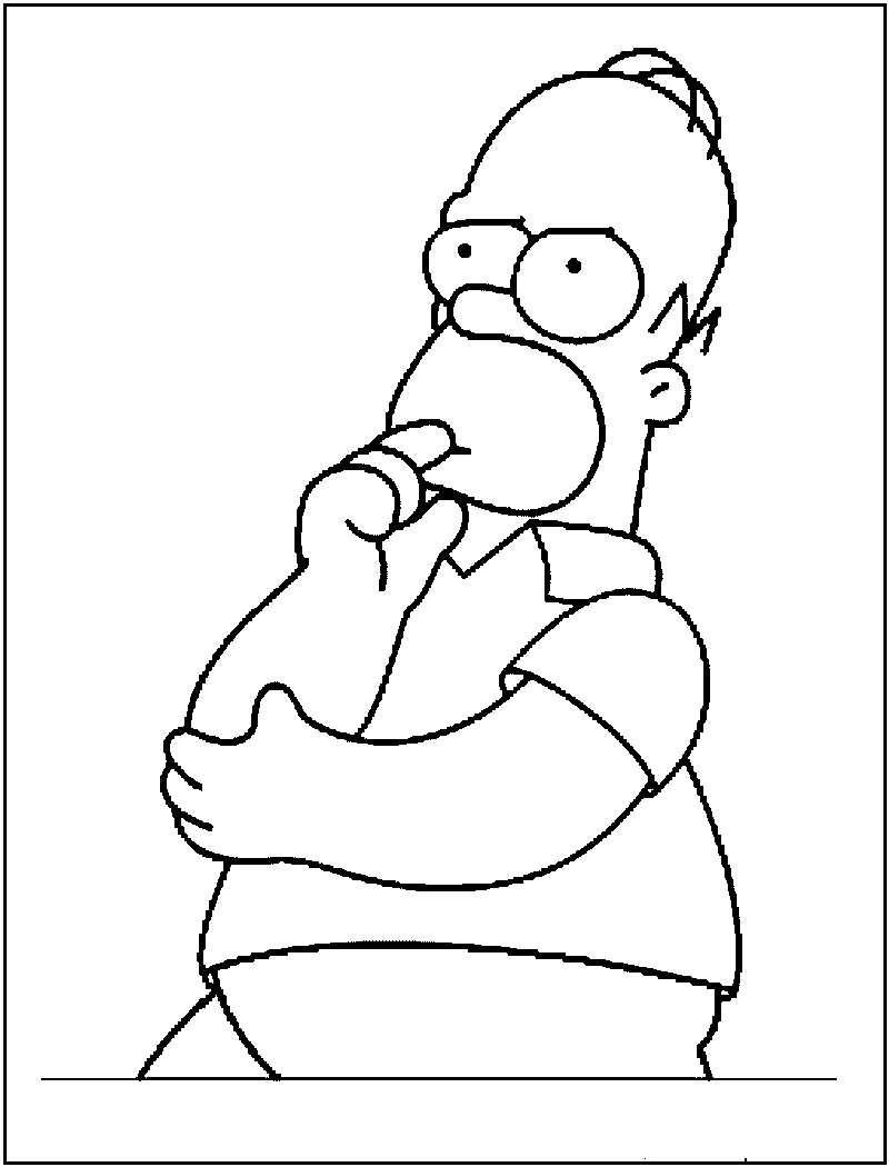 Homer Simpson Coloring Pages | Coloring | Chloe\'s Board | Pinterest ...
