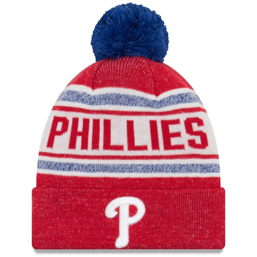 5a41a2762 Men's Philadelphia Phillies New Era Red Toasty Cover Cuffed Knit Hat ...