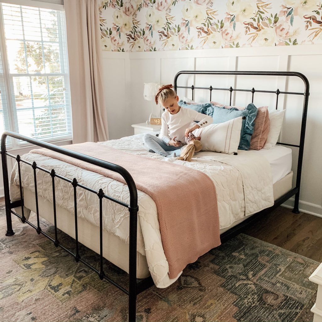 Little Girls Bedroom With Board And Batten And Removable
