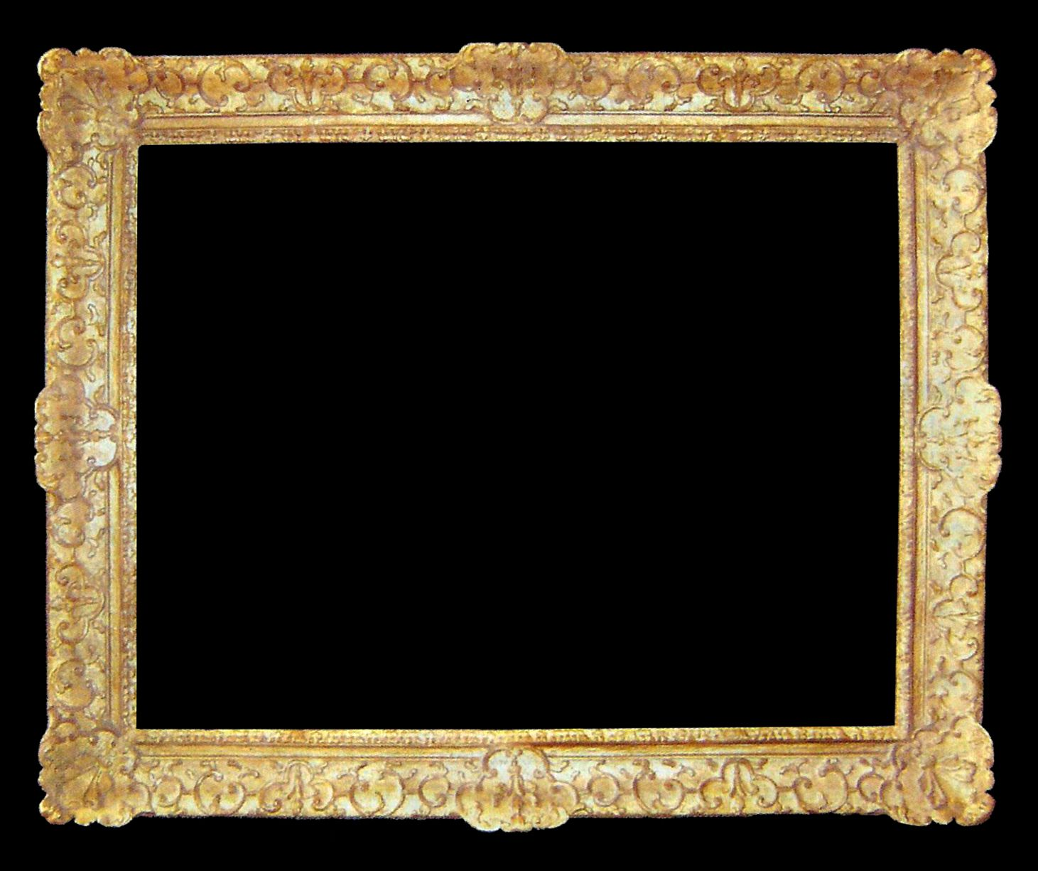 louis xiv frame also known as a french impressionist frame with carved ornament and gilded
