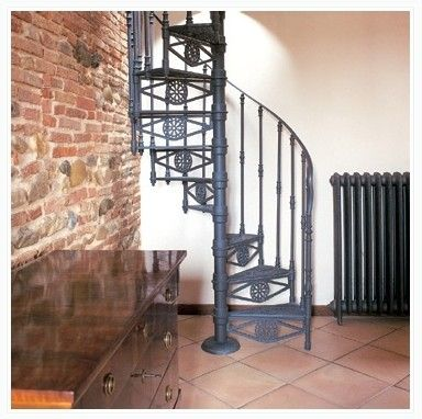 Metal Spiral Staircase Prices | THE ROMA SPIRAL STAIRS   Cast Iron Spiral  Staircases For Either