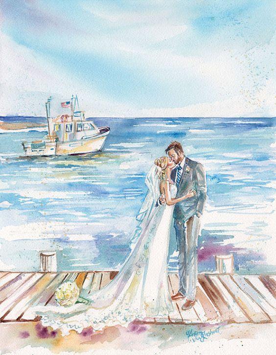 делается жених и невеста картинки акварелью был первоклашкой