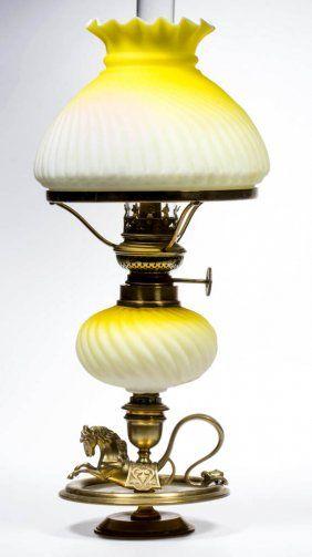 46a4490ba3f0d Embossed Rib Swirl Satin Miniature Peg Oil Lamp