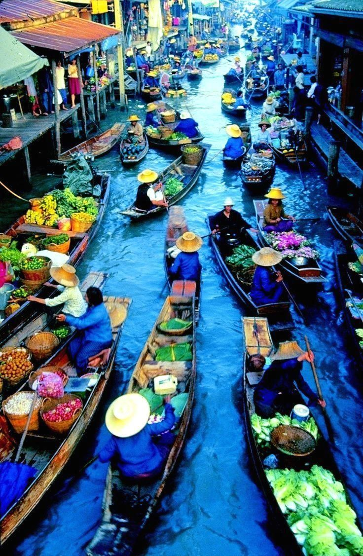 #travelinspiration  #tour  #trip  #travelgoal  Every country has something unique to call their own. If it's not the crowds of India, it's the ritual of a siesta in Spain or the street food of China. Thailand too has one such unique aspect- the… #floating #market. Thailand. floating market.