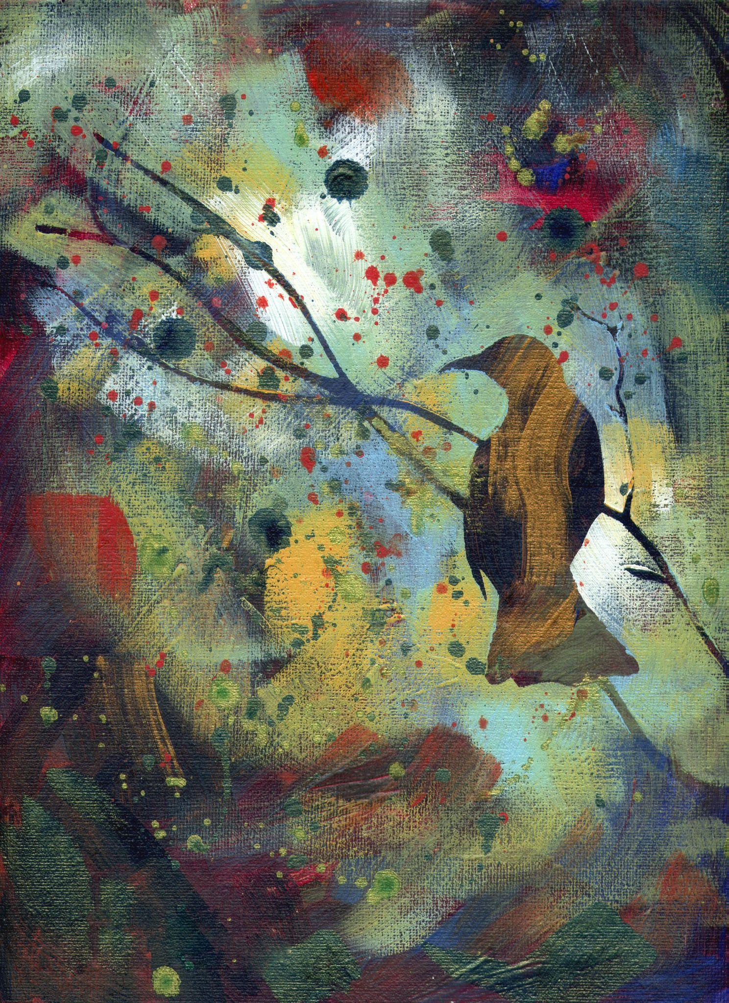 "For Sale: Black Bird by Sam Nagel | $100 | 9""w x 12""h | Original Art | http://www.vangoart.co/buy/art/black-bird @VangoArt"