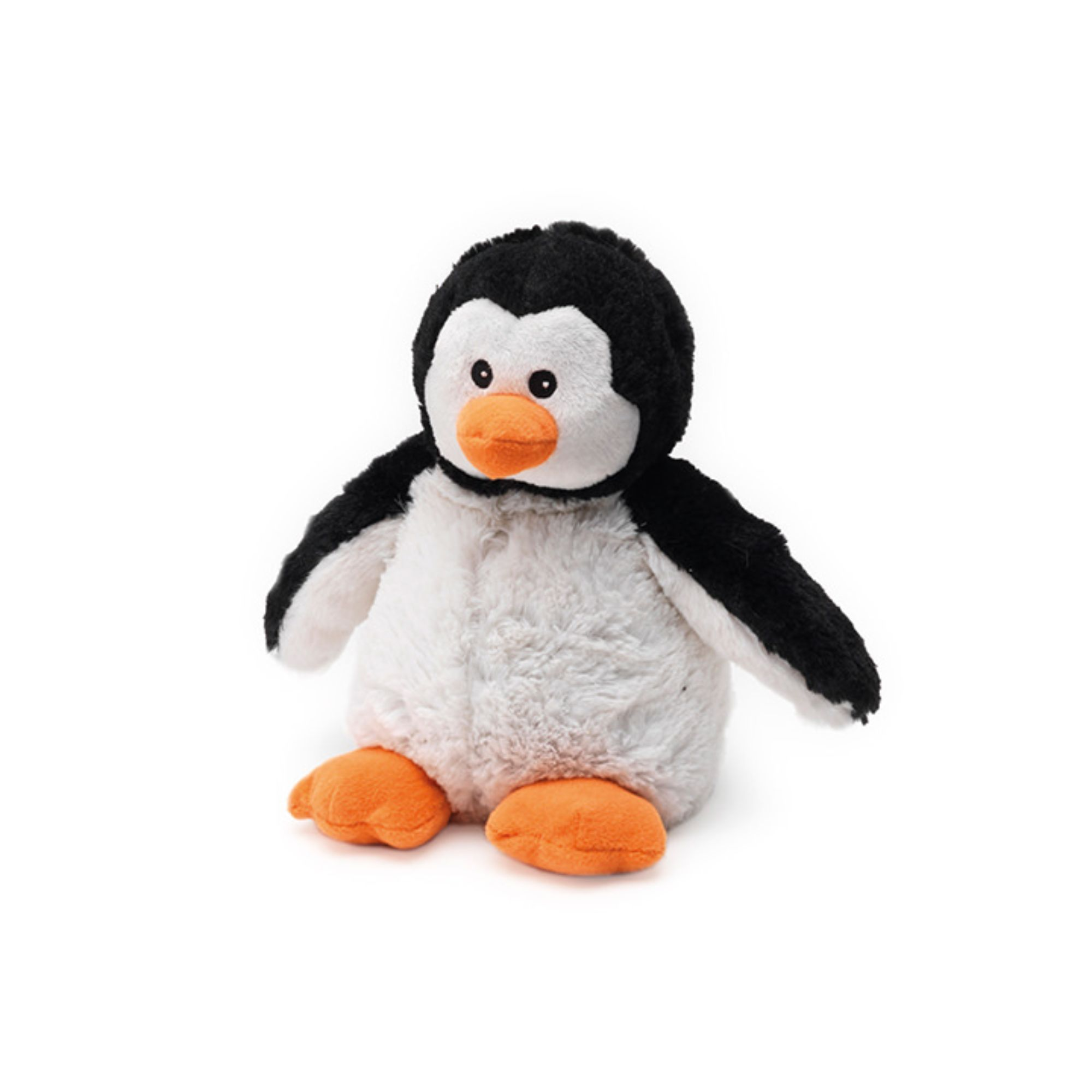 "13"" Black and White Microwavable Plush Penguin Stuffed"