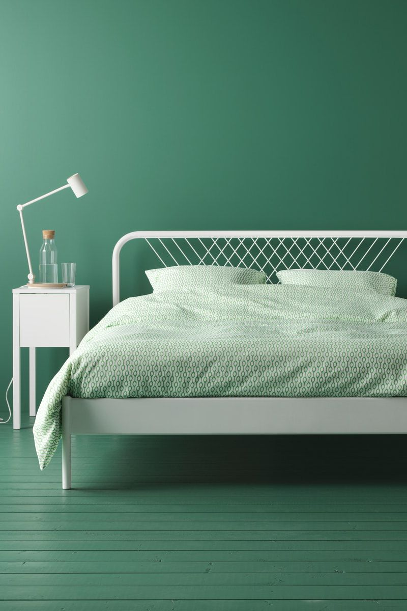 Ikea Bettgestell Metall Weiß