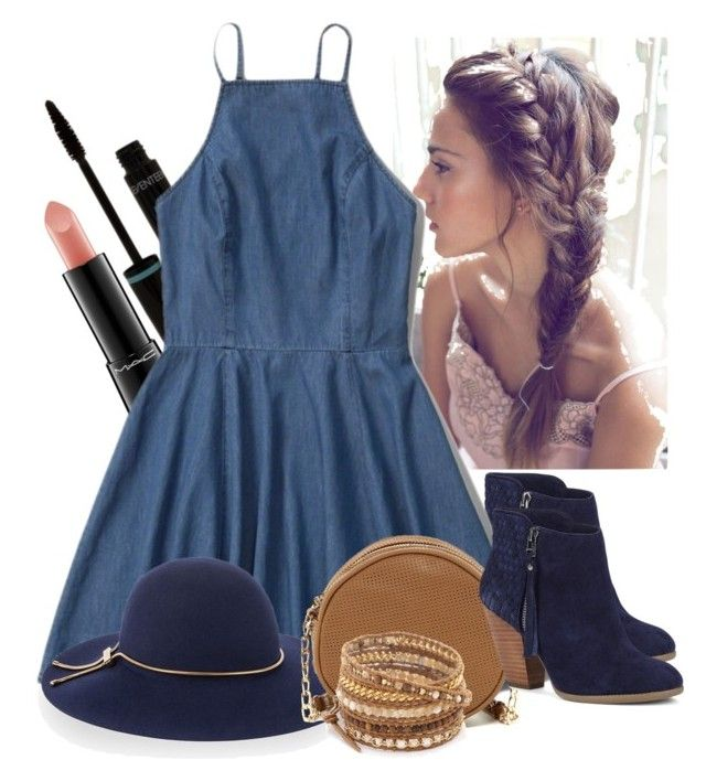"""""""Adore you"""" by amaliadw ❤ liked on Polyvore featuring MAC Cosmetics, Sole Society, Abercrombie & Fitch, Lanvin, Deux Lux, Chan Luu, navy, beige and natural"""