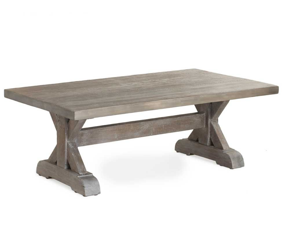reclaimed wood trestle table | trestle console table $ 1495