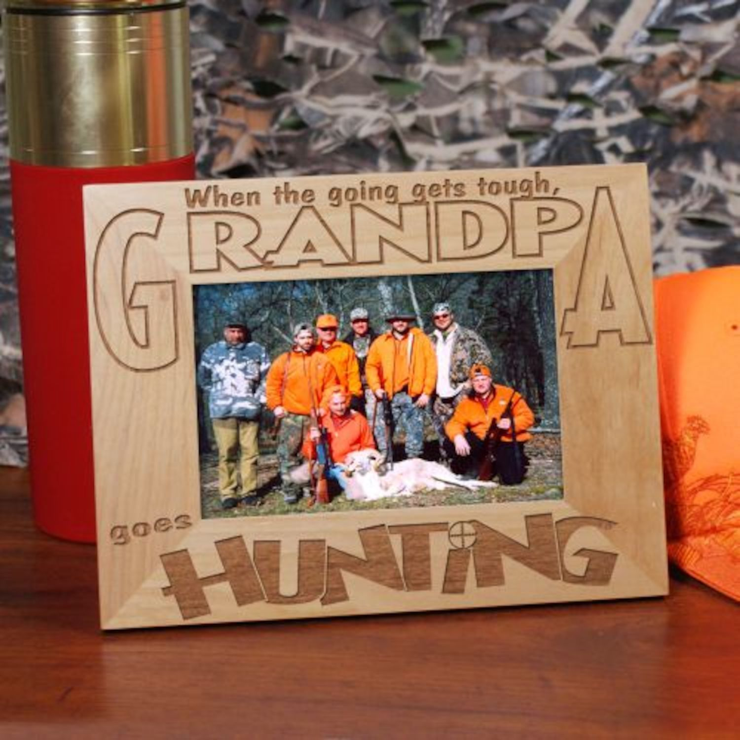 Personalized Go Hunting Wood Picture Frame | Products | Pinterest ...