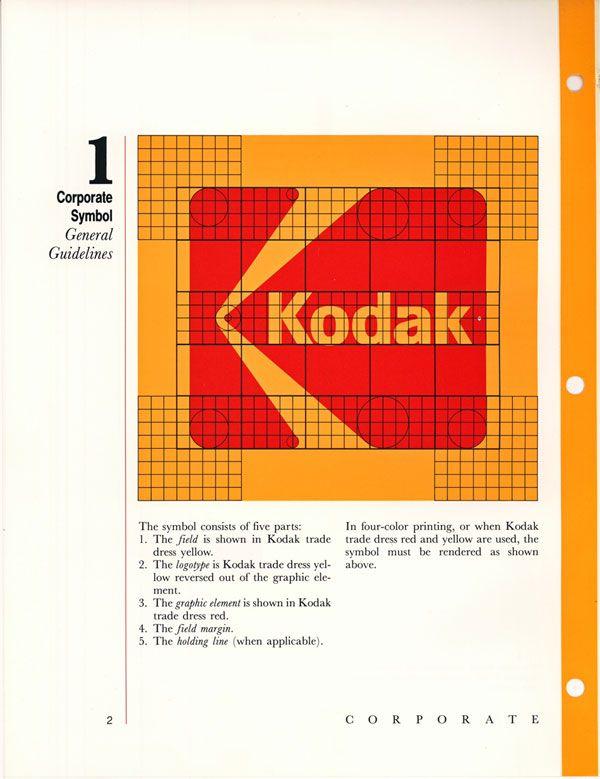 Page From Kodak S Corporate Identity Manual Circa 1984 3