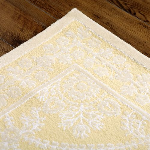 Rugs By Color Yellow Gold Lace Rug At Poshtots