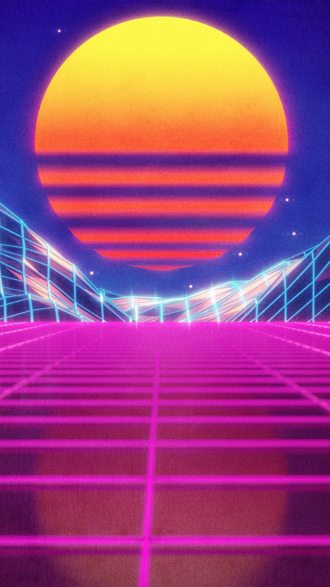 follow aesthetic magik 👑 Waves wallpaper, Vaporwave