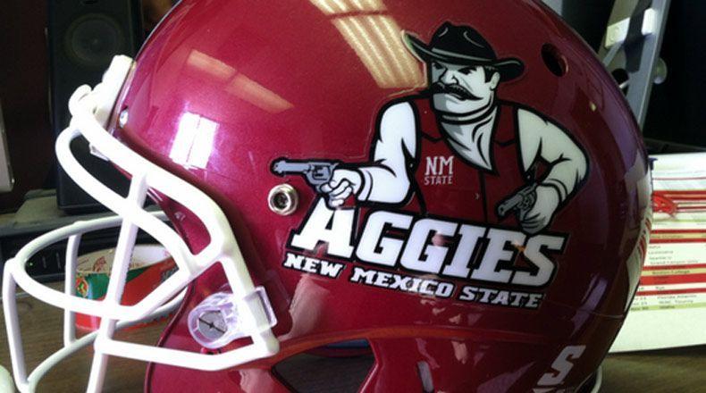 Nmsu Pistol Pete New Mexico State University Football Helmets New Mexico