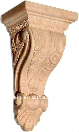 Artesan a en madera m nsulas decorativas efs cg 14 buy - Molduras de madera decorativas ...