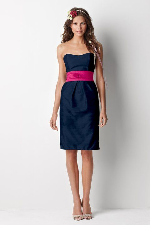 BRIDESMAIDS-DRESSES. Navy and pink? - Could add a hot pink ...