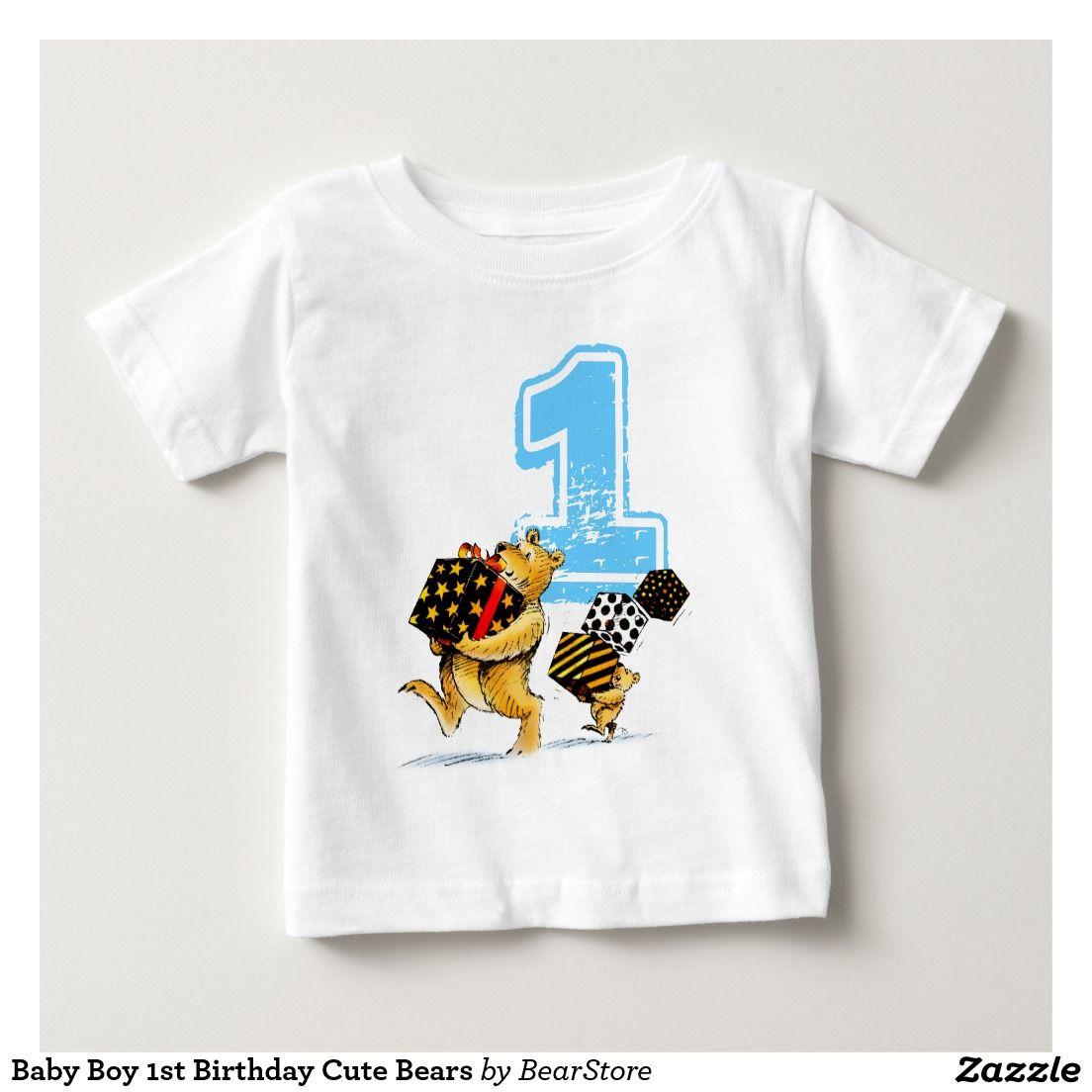 Baby Boy 1st Birthday Cute Bears T Shirt from BearStore
