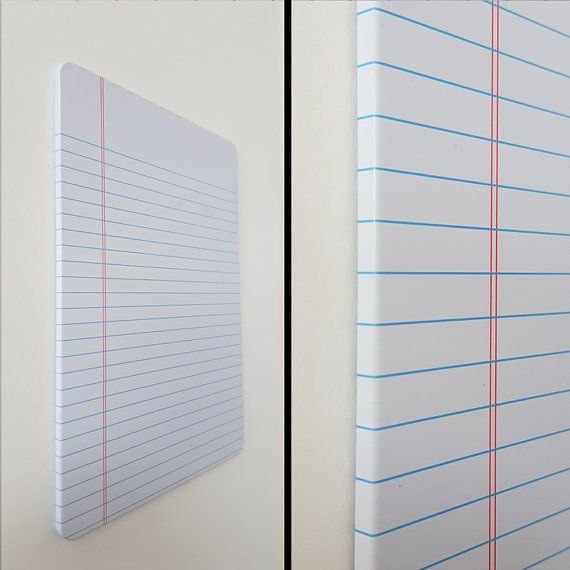 Magnetic Dry Erase Metal Board, Notebook Paper Whiteboard - lined paper to write on