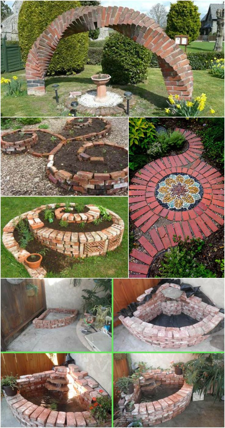 Cool DIY Ideas For Creating Garden Or Backyard Projects Using Old Bricks