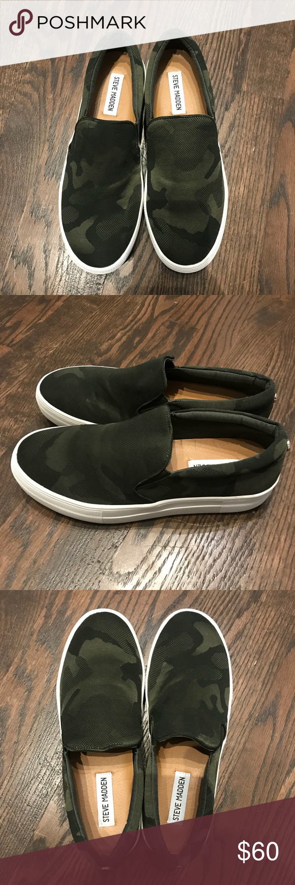 781cb6958ee New Steve Madden Platform Gills Green Camo Nylon 8 New without box Steve  Madden Platform Gills in Green Camo. These shoes are adorable and perfect  with ...