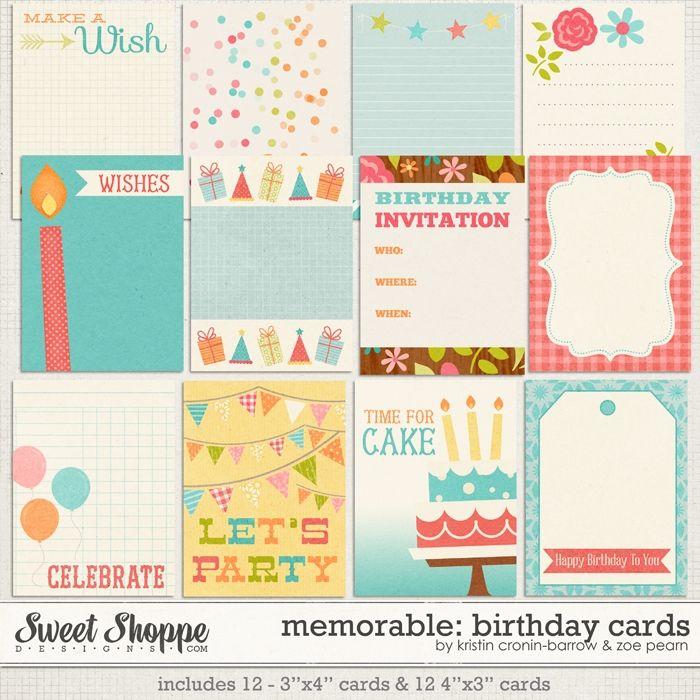 Memorable: Birthday Journal Cards by Kristin Cronin-Barrow & Zoe Pearn