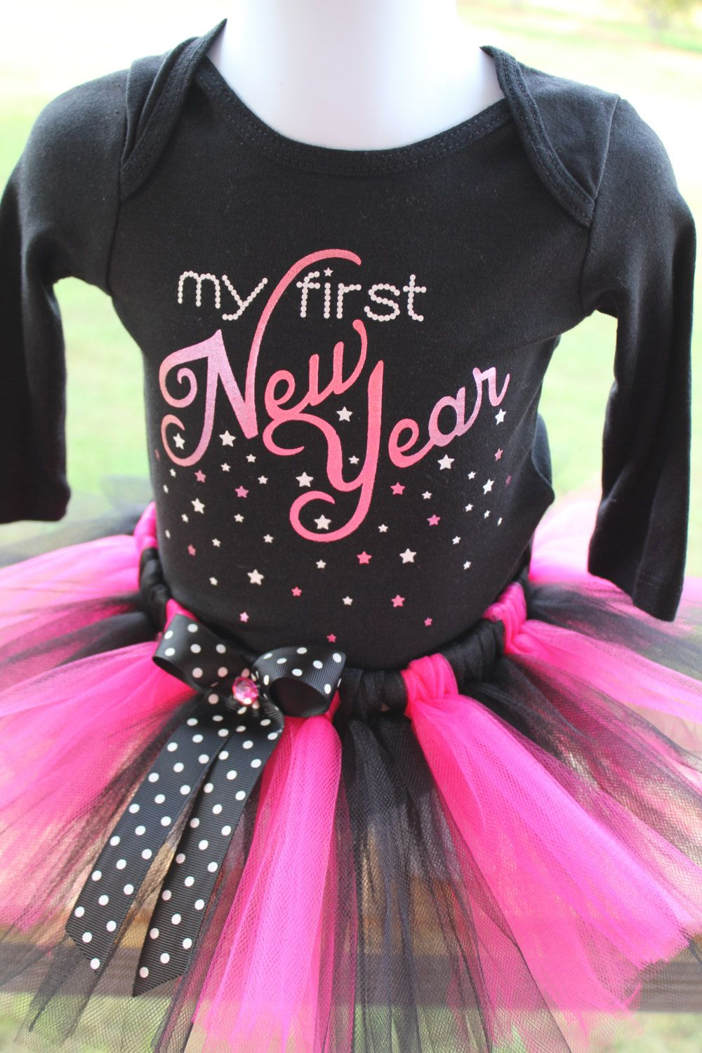 My First New Year Onesie bodysuit tutu dress combo by