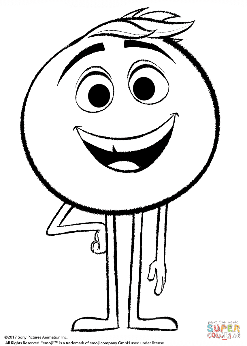 Aprende Brincando Colorir Personagens Do Filme Emoji Coloriage Caca