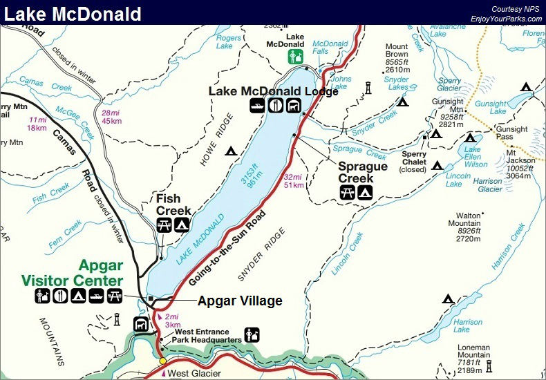 Lake McDonald Area, Glacier National Park Map | Places I'd ... on glacier natl park map, east glacier park map, glacier park peak map, glacier park hotel map, glacier montana map, many glacier hotel map, glacier park camping map, lake mcdonald lodge map,