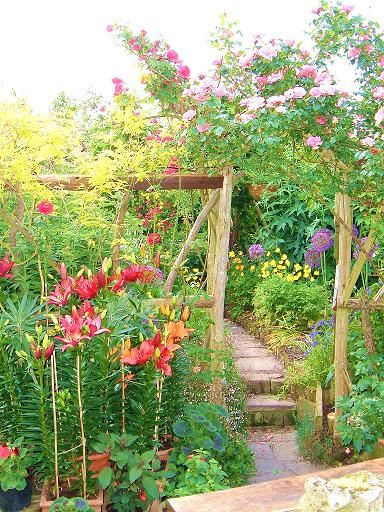 cottage gardening meets tropical""