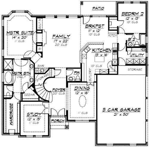 plan 36109tx hill country dreaming with options house